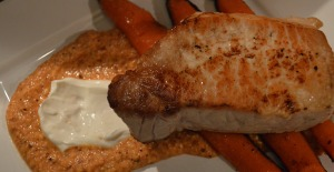Don't look too closely at the quasi-burned carrots. The stove I was cooking on was WAY hotter than I am used to!