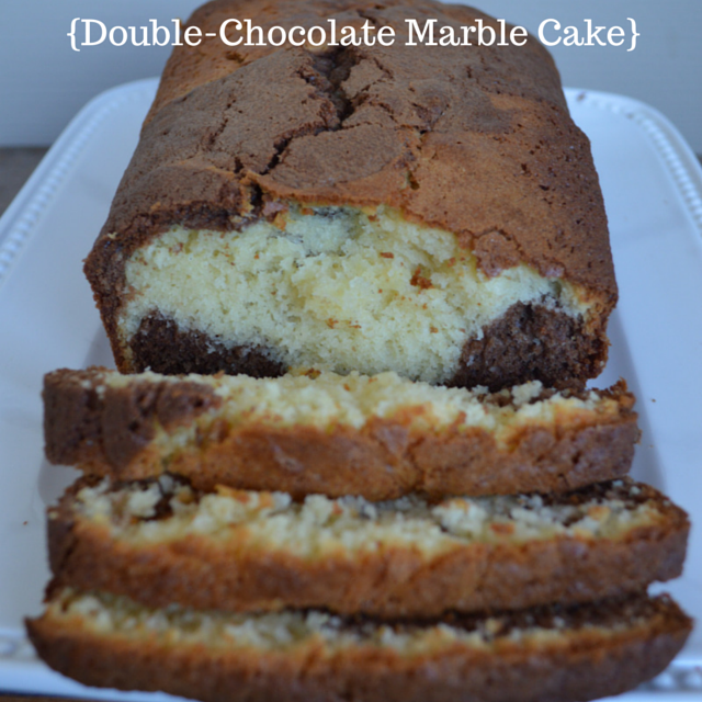 {Double-Chocolate Marble Cake}